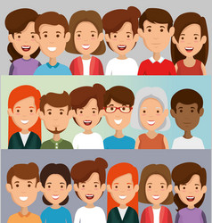 Group friends characters vector