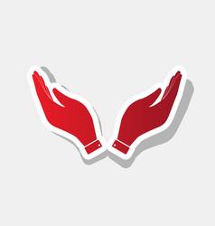 hand icon prayer symbol new vector image