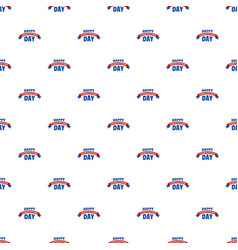 happy constitution day pattern seamless vector image