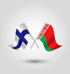Icon of finland and belarus vector
