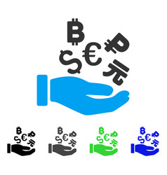 International investment hand flat icon vector