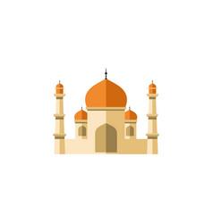 isolated minaret flat icon religion vector image