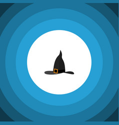 isolated wizard hat flat icon witch cap vector image