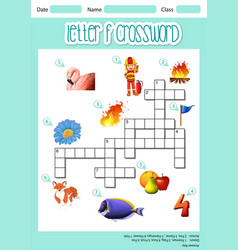Letter f cross word vector