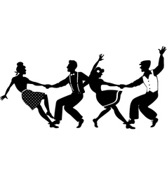 Lindy hop party vector
