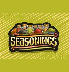 logo for indian seasonings vector image