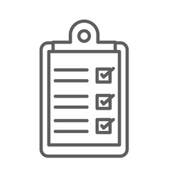medical report clipboard line icon white vector image