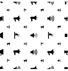 megaphone icons pattern seamless white background vector image