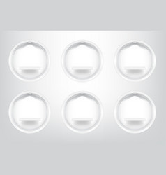 mock up realistic empty circle shelves vector image