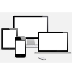 Modern Digital devices vector image vector image
