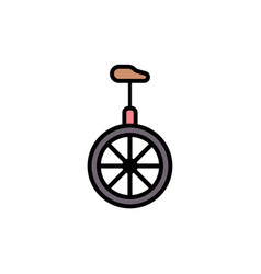 monocycle flat icon sign symbol vector image