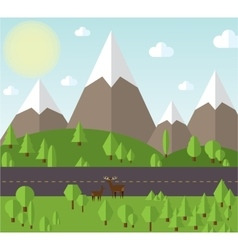 Mountain landscape beside the vector image vector image