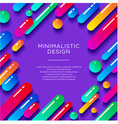 Multicolored glossy shapes shadows violet vector