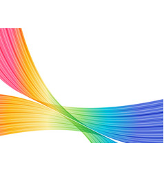 Multicolored striped frame abstract curves vector