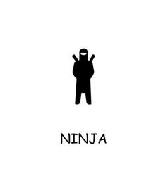 Ninja flat icon vector