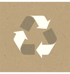 recycled sign on reuse paper texture vector image