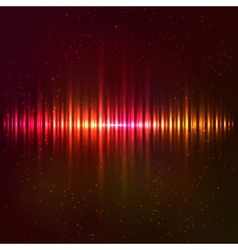 Red shining equalizer vector image