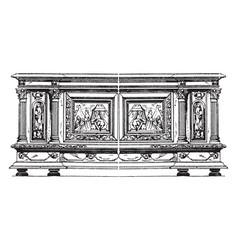 Renaissance chest vintage vector