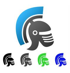 rome helmet flat gradient icon vector image