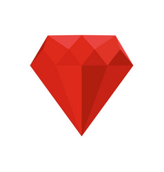 ruby icon flat style vector image