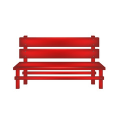 Rural bench in red design vector