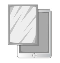screen film for tablet icon monochrome vector image