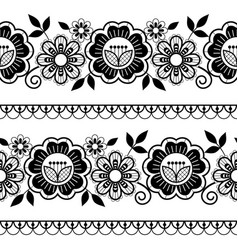 seamless long lace pattern ornamental design vector image