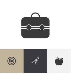 set of 4 editable school icons includes symbols vector image