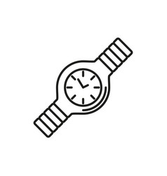simple hand watch thin line icon design vector image