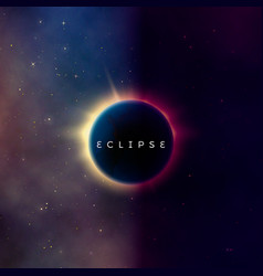 solar eclipse abstract astral universe background vector image