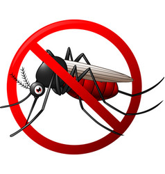stop mosquito symbol vector image