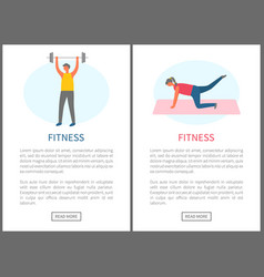 strong people exercising fitness online vector image