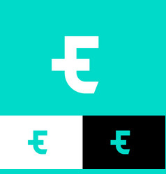 T and e monogram consist two letters vector