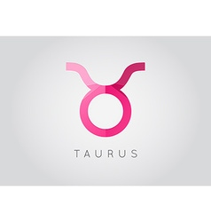 Taurus constellation detailed stylish zodiac icon vector