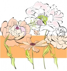 template for card with flowers vector image