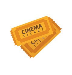 Two cinema tickets emblems isolated on white vector