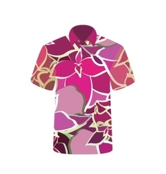 unisex t-shirt with image flower vector image