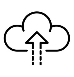 Upload to cloud icon outline style vector