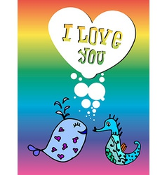 Valentine for gays lgbt vector image