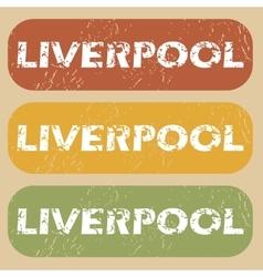 Vintage Liverpool stamp set vector