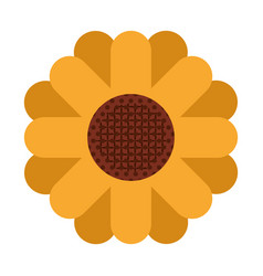 white background with abstract sunflower in vector image