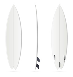 White surfing board template - hybrid vector image