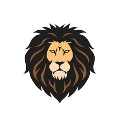 wild lion head mascot logo vector image