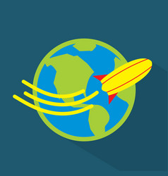 world trip icon set of great flat icons with vector image