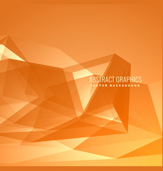 Yellow background with abstract shapes vector