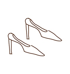 A pair of shoes vector image vector image