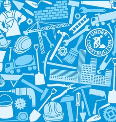 Bulding icon seamless pattern vector image vector image