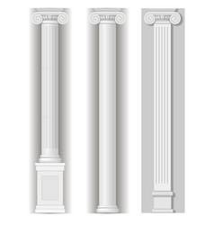 classic antique white columns vector image