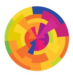 colorful circle abstract vector image vector image