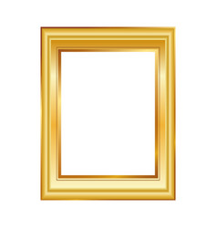 golden frame isolated on white background classic vector image